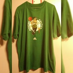 Adidas Boston Celtics Basketball Green XL T-Shirt